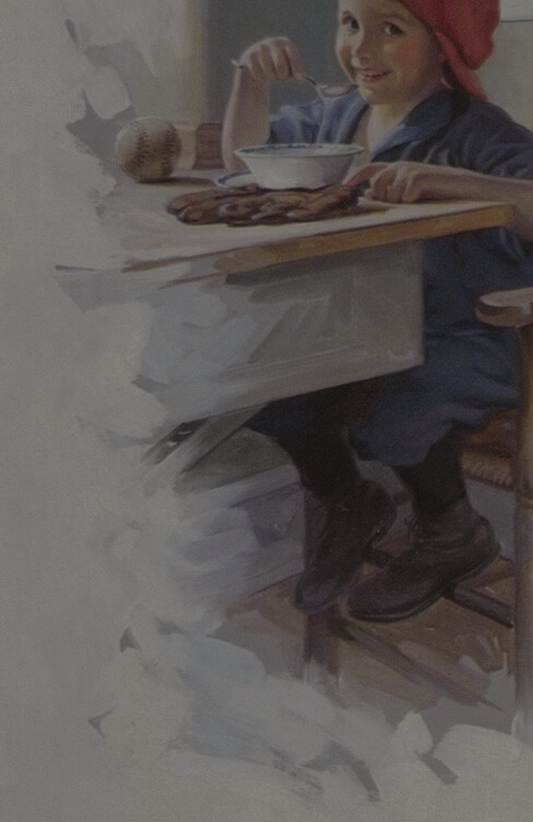 Famous illustrators like N.C. Wyeth, J.C. Leyendecker, and Henry Hutt all created ads for Cream of Wheat.